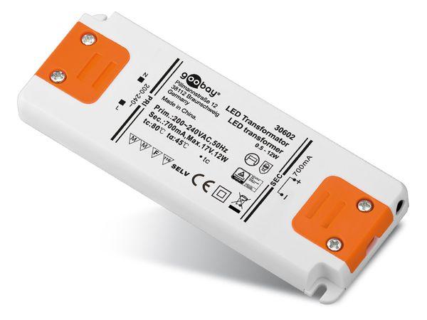 Konstantstrom LED-Treiber GOOBAY SETCC700-12LED, 700 mA, 12 W