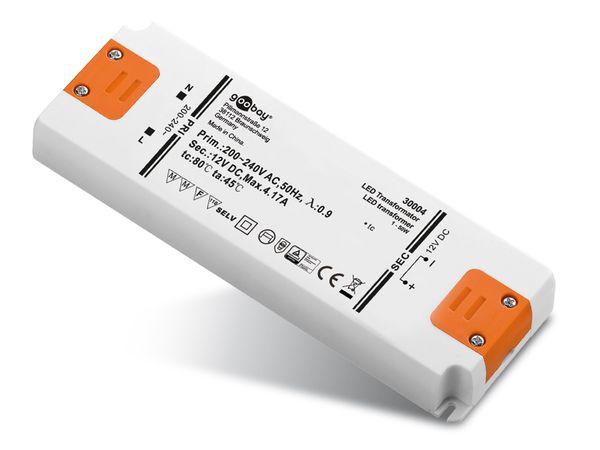 LED-Schaltnetzteil GOOBAY SET12-50LED slim, 12 V-, 50 W