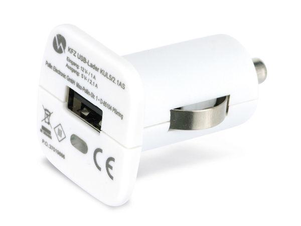 KFZ USB-Lader QUATPOWER KUL5/2.1AS, 2,1 A, weiß - Produktbild 2