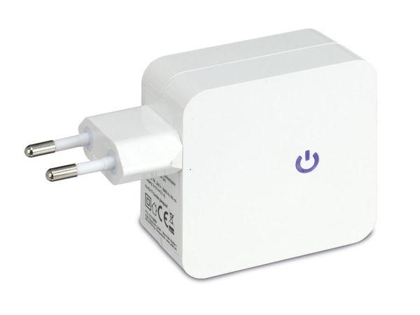 Dual USB-Ladeadapter QUATPOWER NUL2-5/4.2A, weiß - Produktbild 2