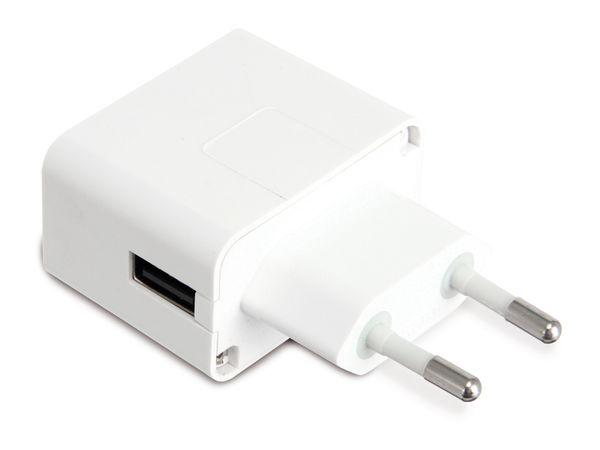 USB-Ladeadapter QUATPOWER NUL5/1AW, 1 A, weiß - Produktbild 1