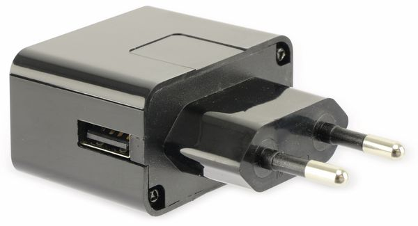 USB-Ladeadapter QUATPOWER NUL5/1AS, 1 A, schwarz - Produktbild 2
