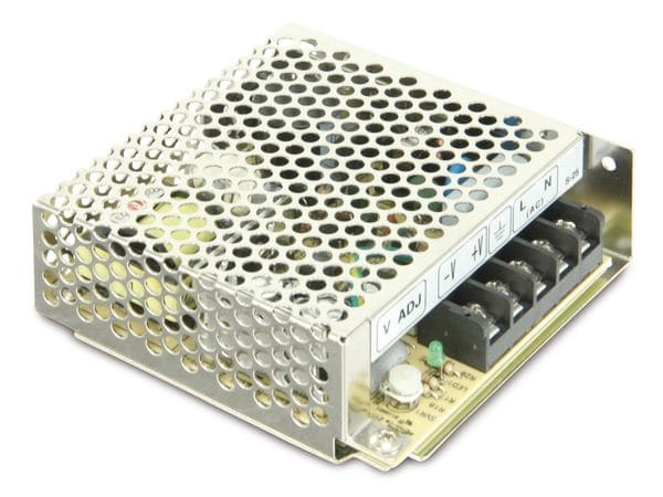 Schaltnetzteil MEANWELL S-25-12, 12 V-/2,1 A