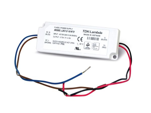 LED-Schaltnetzteil TDK-LAMBDA LDC12-18-R70, 700 mA