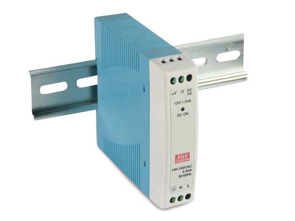 Hutschienen-Schaltnetzteil MEANWELL MDR-10-15, 15 V-/0,67 A