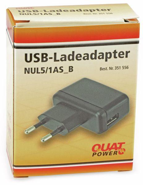 USB-Ladeadapter QUATPOWER NUL5/1AS_B, 5 V-/1 A, schwarz - Produktbild 2