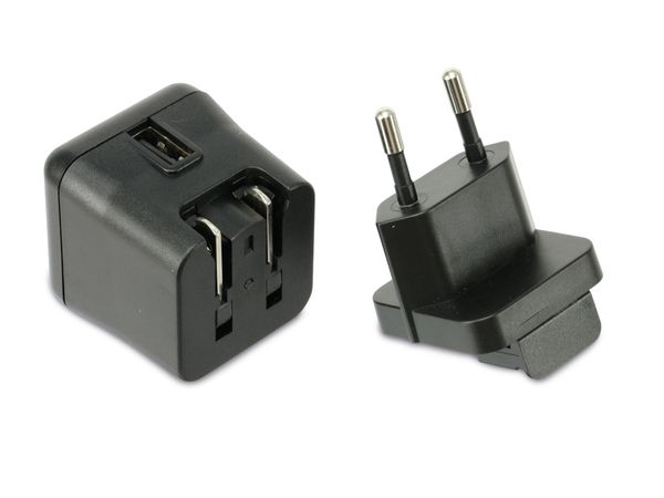 USB-Reiselader QUATPOWER NUL5/3AS, 5 V-/3 A, schwarz