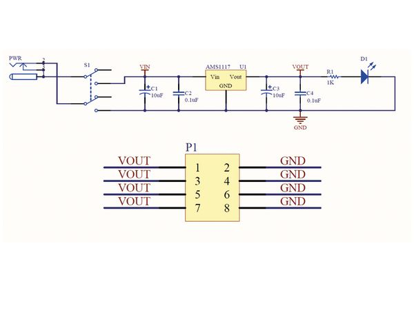 Spannungsregler-Modul DAYPOWER M-SD-AMS1117/5.0 - Produktbild 2