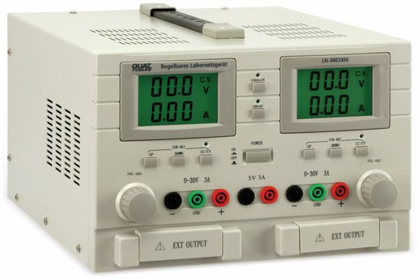 Labornetzgerät QUATPOWER LN-3003XIII, 2x 0...30 V-, 0...3 A, 5 V-/3 A - Produktbild 1
