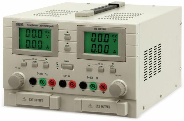 Labornetzgerät QUATPOWER LN-3003XIII, 2x 0...30 V-, 0...3 A, 5 V-/3 A - Produktbild 2