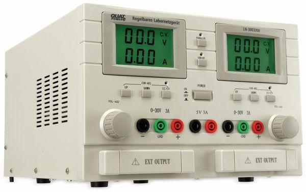 Labornetzgerät QUATPOWER LN-3003XIII, 2x 0...30 V-, 0...3 A, 5 V-/3 A - Produktbild 3