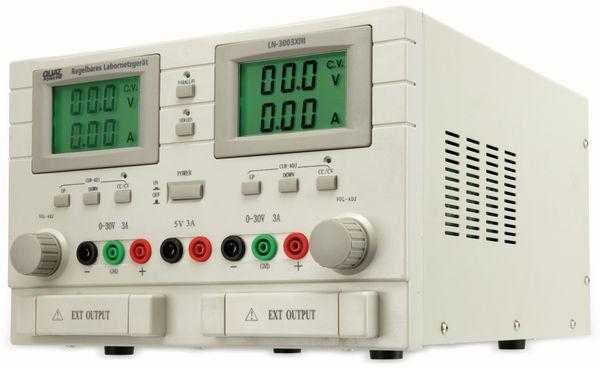 Labornetzgerät QUATPOWER LN-3003XIII, 2x 0...30 V-, 0...3 A, 5 V-/3 A - Produktbild 4