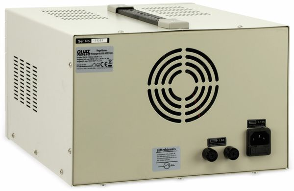 Labornetzgerät QUATPOWER LN-3003XIII, 2x 0...30 V-, 0...3 A, 5 V-/3 A - Produktbild 5