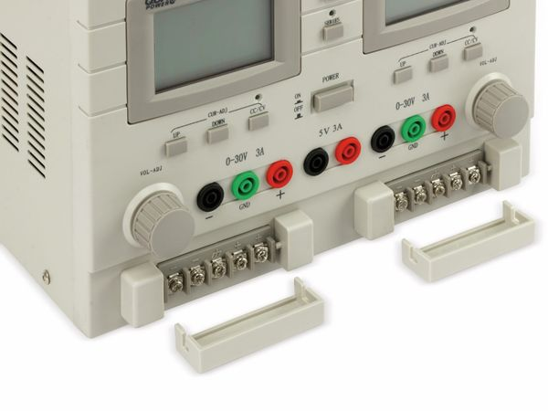 Labornetzgerät QUATPOWER LN-3003XIII, 2x 0...30 V-, 0...3 A, 5 V-/3 A - Produktbild 6