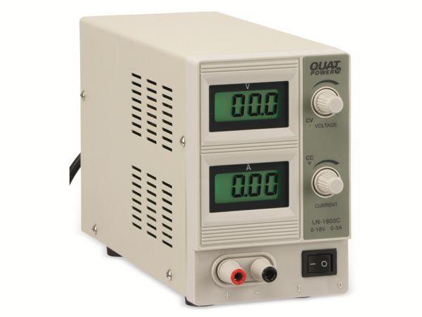 Regelbares Labornetzgerät QUATPOWER LN-1803C, 0...18 V-/0...3 A - Produktbild 1
