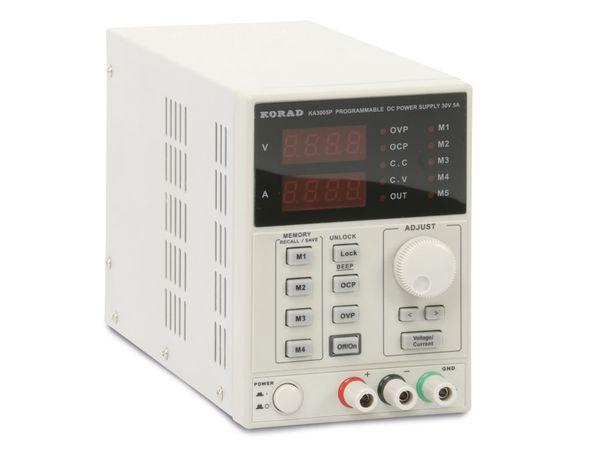 Programmierbares Netzgerät mit USB-Interface KORAD KA3005P, 30 V-/5 A - Produktbild 1