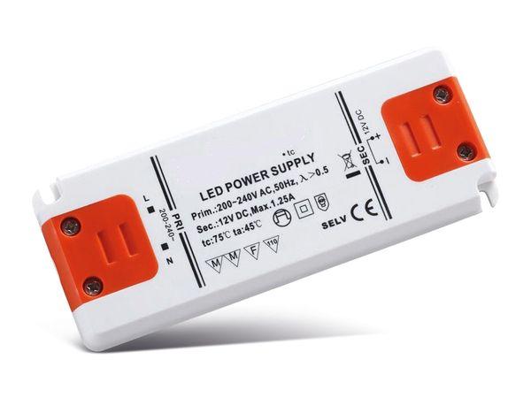 LED-Schaltnetzteil DAYLITE LD12/15-129, 12 V-, 15 W