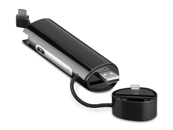 USB-Powerbank GOOBAY PowerBank 2.6, Lightning und Micro-USB - Produktbild 1
