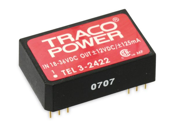DC/DC Wandler TRACO POWER TEL3-2422, 12 V- - Produktbild 1