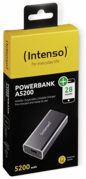 USB Powerbank INTENSO 5200 mAh, schwarz - Produktbild 2