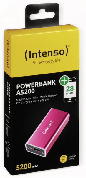 USB Powerbank INTENSO 5200 mAh, pink - Produktbild 2