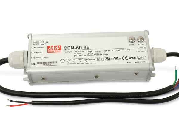 LED-Schaltnetzteil MEANWELL CEN-60-36, 33...40 V-/1,1...1,45 A - Produktbild 2