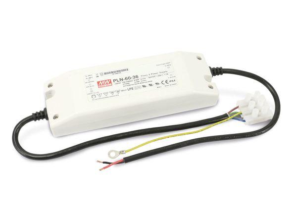 LED-Schaltnetzteil MEANWELL PLN-60-36, 32,5...39 V-/1,7 A - Produktbild 1