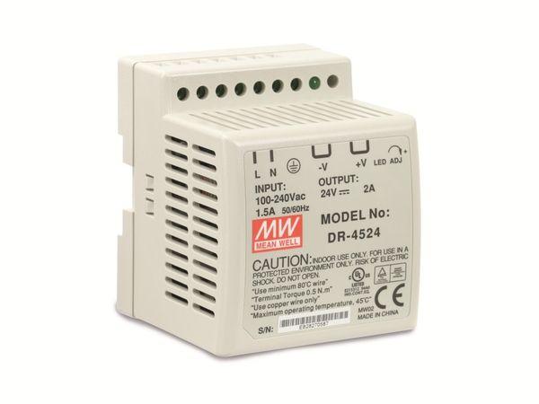 Hutschienen-Schaltnetzteil MEANWELL DR-4524, 24 V-/2 A - Produktbild 1