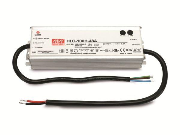 LED-Schaltnetzteil MEANWELL HLG-100H-48A, 48 V-, 2 A, 96 W
