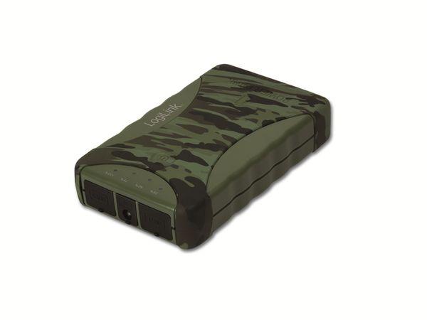 USB Akkupack LOGILINK PA0092, 8.800 mAh, camouflage - Produktbild 1