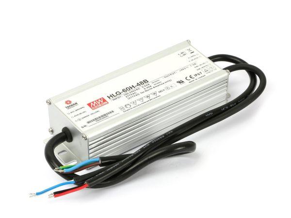 LED-Schaltnetzteil MEANWELL HLG-60H-48B, dimmbar - Produktbild 1