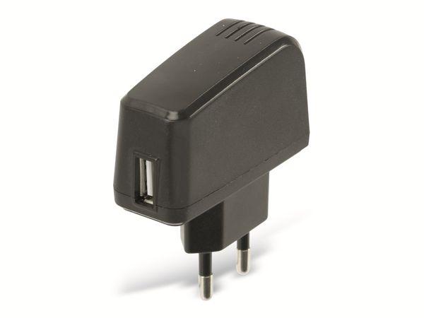 USB-Ladeadapter SAPA05008EUU, 5 V-/1,5 A, schwarz - Produktbild 1