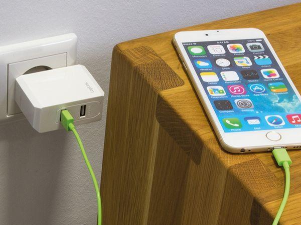 USB-Lader LOGILINK PA0094, 2-fach, 3,4 A, weiß - Produktbild 2