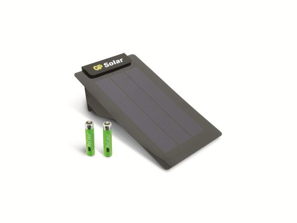 Solar-Ladegerät GP Solar Charger, inkl. 2 GP ReCyko+ Micro-Akkus - Produktbild 1
