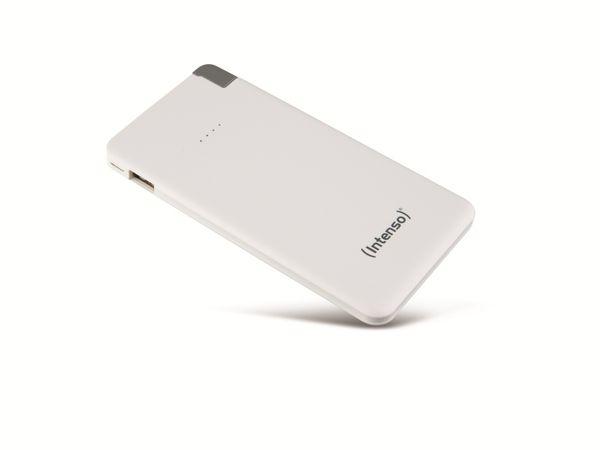 USB Powerbank INTENSO 7332522 Slim S5000, 5000 mAh, weiß - Produktbild 2