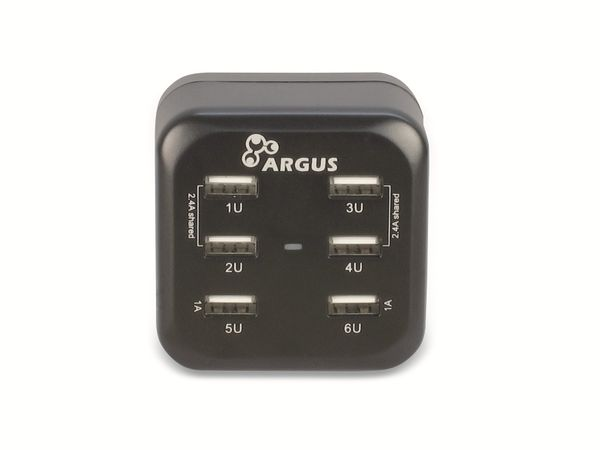 USB-Lader INTER-TECH LS-6US Reiselader - Produktbild 1