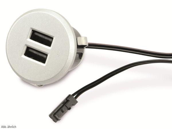 USB-Einbau-Lader QUATPOWER UL-5USB, 5V-/2,1A, 2-fach - Produktbild 2