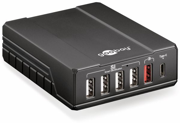USB-Lader GOOBAY 71808, 6-fach, 5 V-/max. 10 A - Produktbild 1