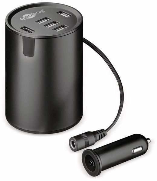 USB-Lader GOOBAY 58846, KFZ, Cup Holder, 10 A, 50 W, 12/24 V - Produktbild 1
