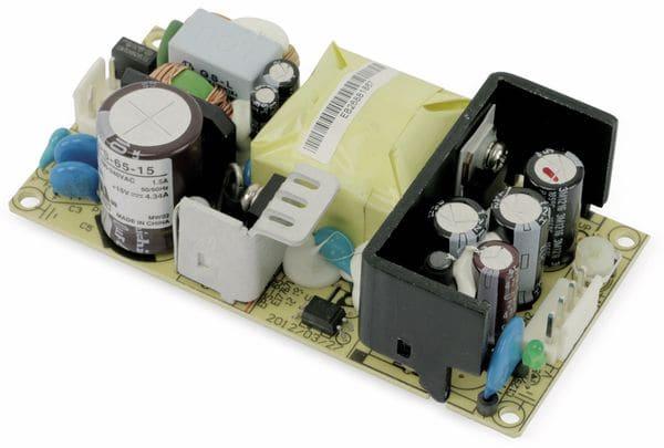 Schaltnetzteil MEANWELL EPS-65-15, 15 V-/4,34 A - Produktbild 1