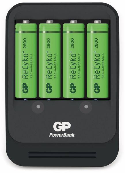 Ladegerät GP PB570, inkl. 4 GP ReCyko+ Mignon-Akkus 2600 mAh
