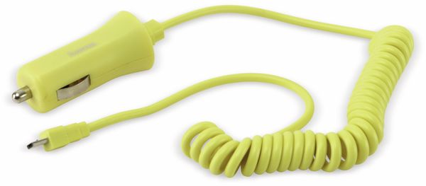 KFZ USB-Lader mit Micro-USB-Kabel HAMA 136134, 5 V-/1 A, gelb