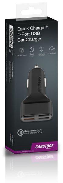KFZ USB-Lader 4-Port, 5 V-/ 7,2 A, QC 3.0 Standard - Produktbild 3