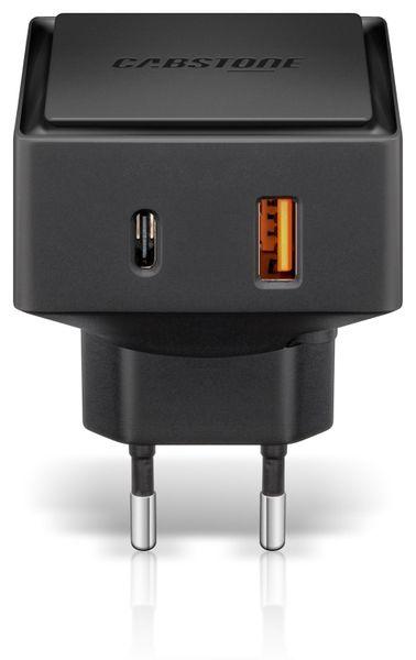 Dual USB Lader 6 A, 1x USB A, 1x USB C für Steckdosen - Produktbild 1