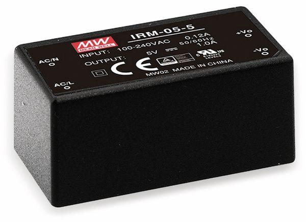 AC/DC-Printnetzteil MEANWELL IRM-05-3.3, 3,3 V-/1,25 A, 4,1 W