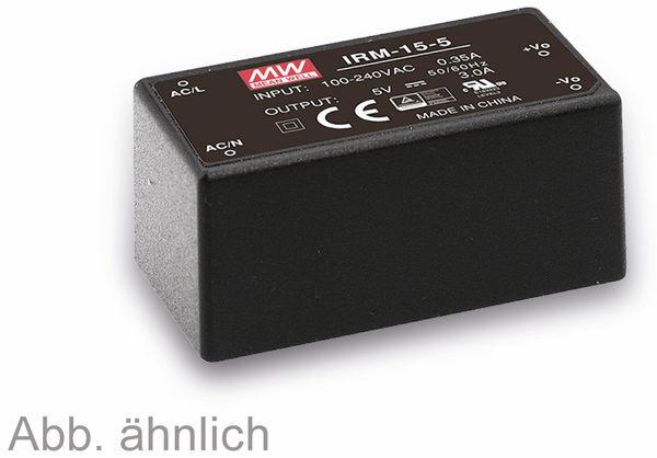 AC/DC-Printnetzteil MEANWELL IRM-15-5, 5 V-/3 A, 15 W