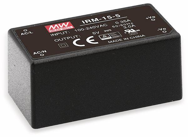 AC/DC-Printnetzteil MEANWELL IRM-15-24, 24 V-/0,63 A, 15 W