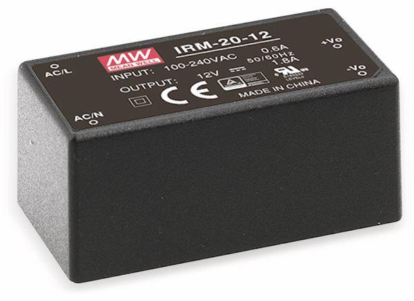 AC/DC-Printnetzteil MEANWELL IRM-20-3.3, 3,3 V-/4,5 A, 14,8 W