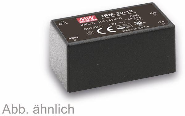 AC/DC-Printnetzteil MEANWELL IRM-20-12, 12 V-/1,8 A, 21,6 W