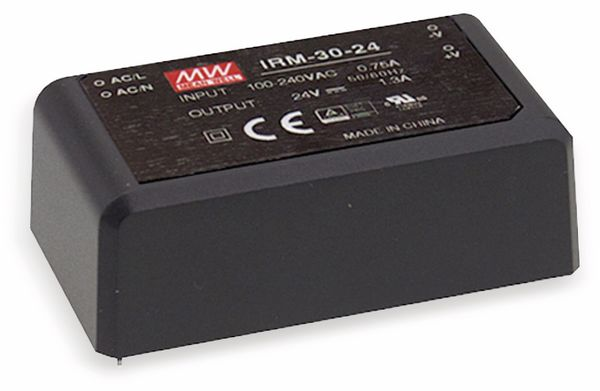 AC/DC-Printnetzteil MEANWELL IRM-30-5, 5 V-/6 A, 30 W